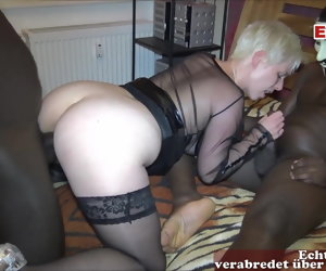 7:42 , German mother DP homemade 2 monster black cocks real mom sex