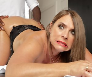 5:17 , Sweltering milf with huge tits calls in for anal massages