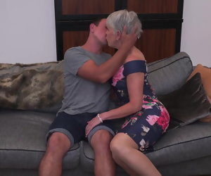6:15 , Sexy granny gets proscribe sex immigrant boy