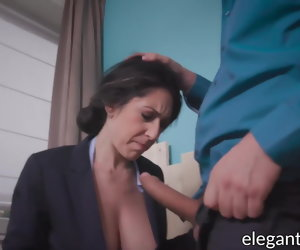 7:00 , Busty businesswoman sucks and fucks big cock in anal office