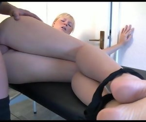 6:20 , German Blondie don't want anal, but... creampie anal