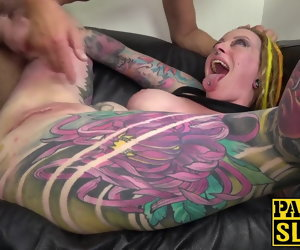 10:00 , Busty coupled with inked Piggy Mouth fucked anal before cum in brashness