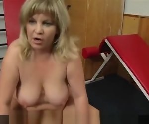 12:04 , Grandmother bounces her tits