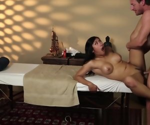 5:31 , Busty asian babe fucked deeply by masseur