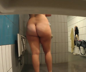 15:00 , Spying on Thick Aussie Chick in Shower