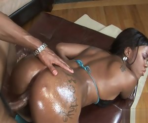 22:13 , Big booty disastrous girl getting oiled up and fucked hard on the couch