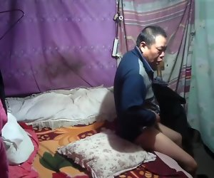 8:14 , Chinese grandpa going to bed lady