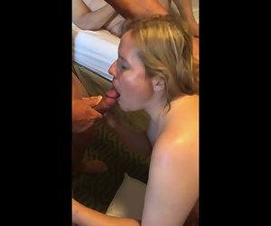5:48 , CUCKOLD HOT WIFE GETTING FUCK BY 2 STRANGERS