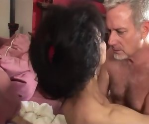 41:03 , Hairy pussy mature ebony interracial stance