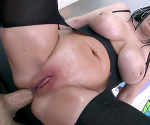 12:23 , NYMPHO - Stuffing all of Angela White's stingy holes