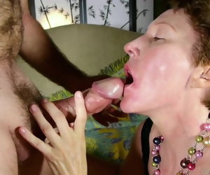10:52 , Cock hungry mature lady sucks dick for a facial cumshot
