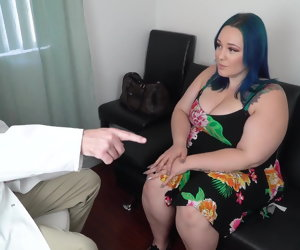 21:41 , Beautiful Blue Haired BBW Gets an Anal Checkup