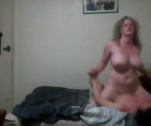 5:03 , Hidden cam Cheating wife big tits exposed