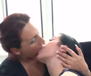 22:46 , Mature lesbian playing with a horny young mollycoddle