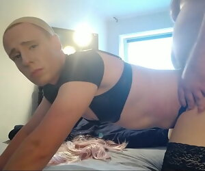 10:50 , sissy transvestite spank fixed fuck and bare by chubby daddy