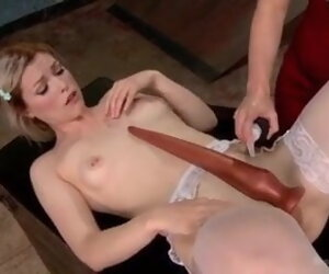 4:00 , Extreme long dildo insertion in asshole