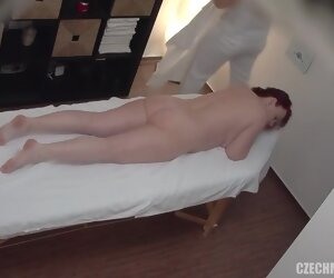 19:25 , Gorgeous obese redhead fucks say no to masseuse