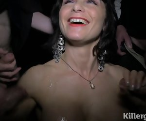 8:15 , Cum slut Milf sucks strangers cocks in lovemaking cinema