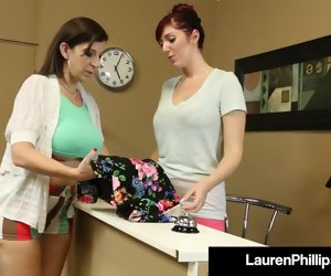 11:00 , Red Hot Haymaker Lose reveal Lauren Phillips Opens Her Legs For GF!