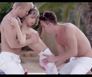 30:14 , Slim Russian cutie Gina Gerson gets DPed coupled with creamed outdoors, what a..