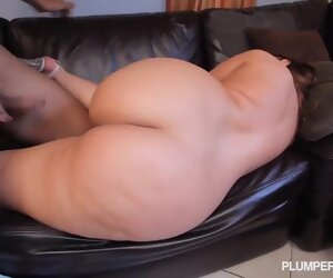 54:48 , Sexy BBW get's a creampie for her pussy
