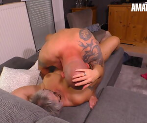 14:00 , Hausfrau Ficken - German Wife Cheats On Economize In the air Neighbor