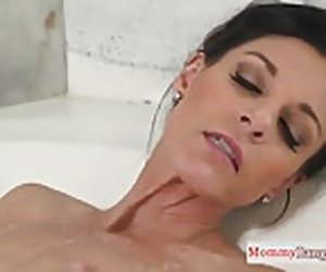 10:00 , Masturbating stepmom caught in the bathtub