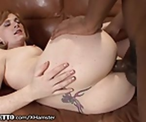 7:30 , Amateurish Redhead Anally Creampied by Monster BBC