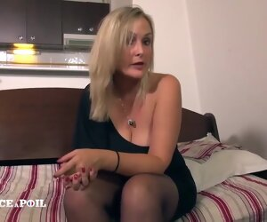 34:34 , French milf with chubby tits and blonde hair, Tara is fucking a guy with a..