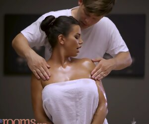 23:07 , Massage Rooms Big Tits Brunette Chloe Lamour Oil Soaked Doggy together with..