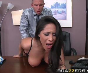 8:00 , Brazzers - Chunky Tits at one's disposal Deport oneself - Sauce the Boss scene..