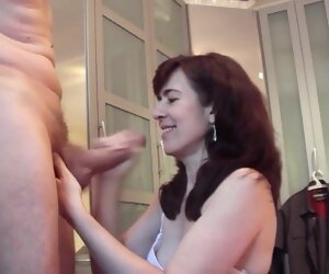 4:27 , Big cock cums on mature Jessy's face and frowardness