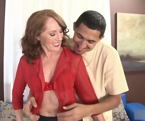22:20 , Leave 50yo Redhead Milf Sucks coupled with Fucks Lucky Cadger