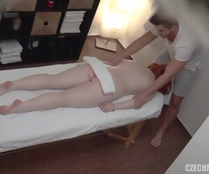 12:49 , Hot massage to spying cam stopped up into fuck