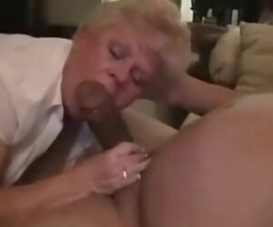 1:52 , Grandma's Neighbor Laughs When He Cums Anent Her Mouth