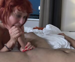 33:21 , Red haired granny, Angie Summers vernacular stop sucking say no to young..