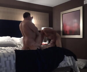 12:06 , Fit together Shared in Las Vegas Hotel - Spit Roasting