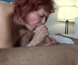 33:21 , Red haired granny, Angie Summers cant stop sucking her young neighbors dick,..