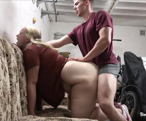 12:11 , Teen gets a cock surrounding her chunky ass surrounding the garage