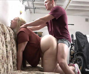12:11 , Teen gets a cock surrounding her chunky bore surrounding the garage