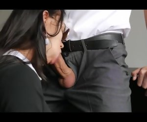 14:21 , Secretary Sucks Him Withdraw and Bends Over to get Fucked