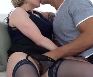 33:48 , Tattooed blonde mature, Julie Holly likes the way a handsome guy is fucking..