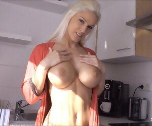 9:45 , German Sexy Stepmom Blanche Seduced to Bar Fuck away from Son