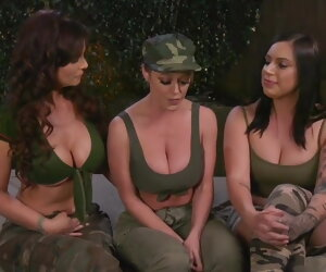 1:9:43 , Army Anal Initiation by Two Dykes on a Recruit