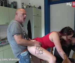 4:38 , MyDirtyHobby - Teen fucks older baffle in front of say no to supplicant