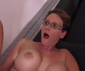 36:27 , Oversexed woman with glasses fucked