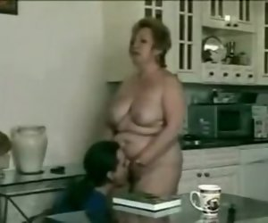 14:17 , Astonishing amateur Grannies, Kitchen adult scene