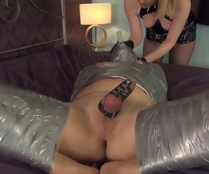 31:01 , Mistress bangs the wrapped Slave