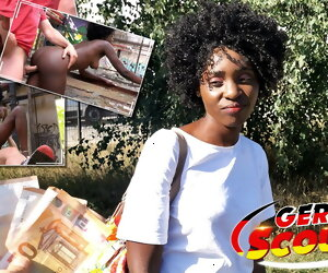 12:15 , GERMAN SCOUT - EBONY MILF ZAAWAADI, PUBLIC PICKUP Coition FOR CASH