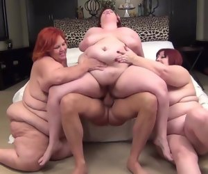 29:48 , 3 BBWs redheads added to 1 lucky guy